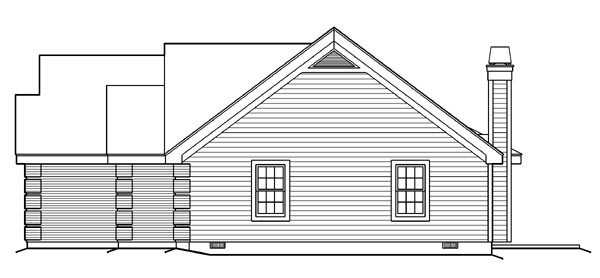 Cape Cod, Country, Ranch, Southern, Traditional House Plan 87817 with 4 Beds, 3 Baths, 3 Car Garage Picture 2