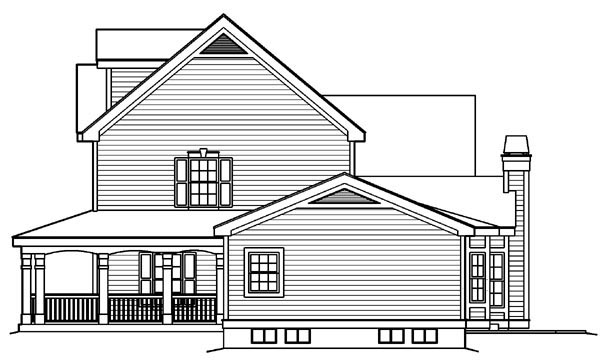 Country Southern Traditional House Plan 87818