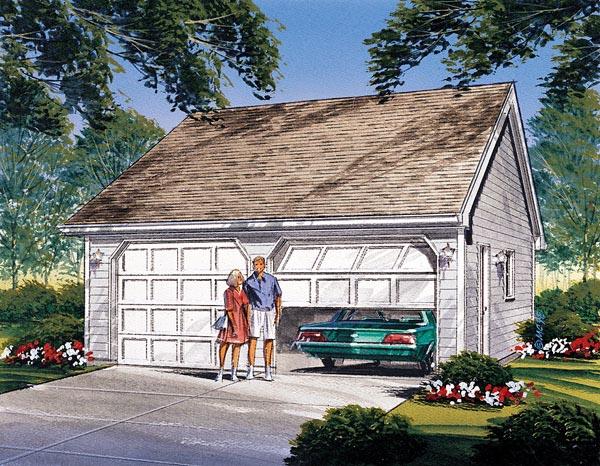 Traditional Garage Plan 87828 Elevation