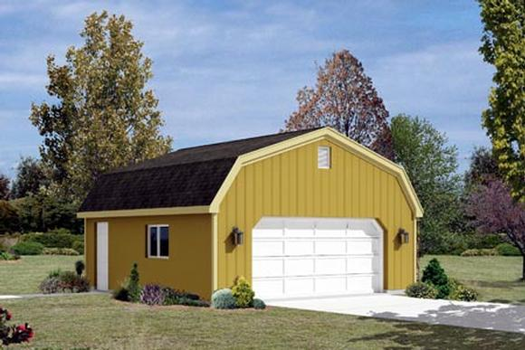 2 Car Garage Plan 87853 Elevation