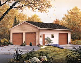Two-Car Garage Building Plans - Two Car Garage Plans for Building
