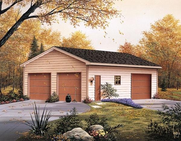 Garage Plan 87864 Elevation