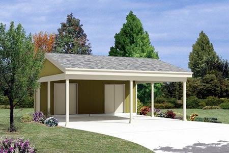 2 Car Garage Plan 87867 Elevation