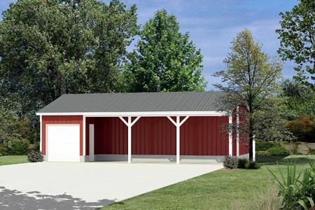 Garage Plan 87874 Elevation