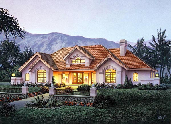 Country Ranch Southern Southwest House Plan 87882 Elevation