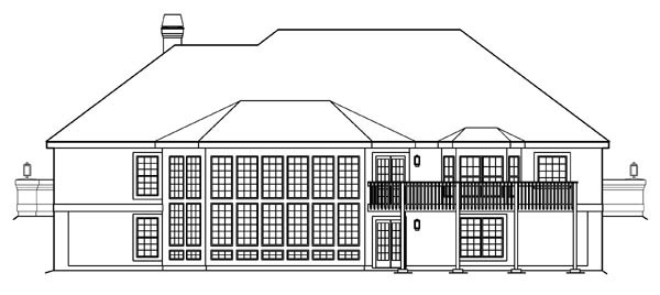 Country Ranch Southern Southwest House Plan 87882 Rear Elevation