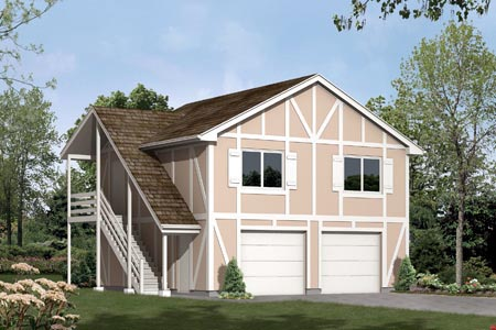 Garage plan 87883 at family home plans for 30x40 garage apartment plans