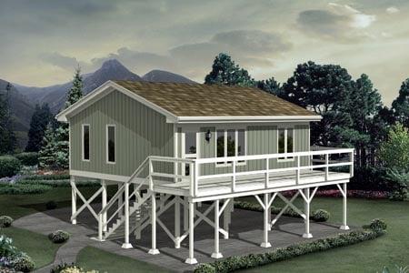 Cabin House Plan 87885 Elevation