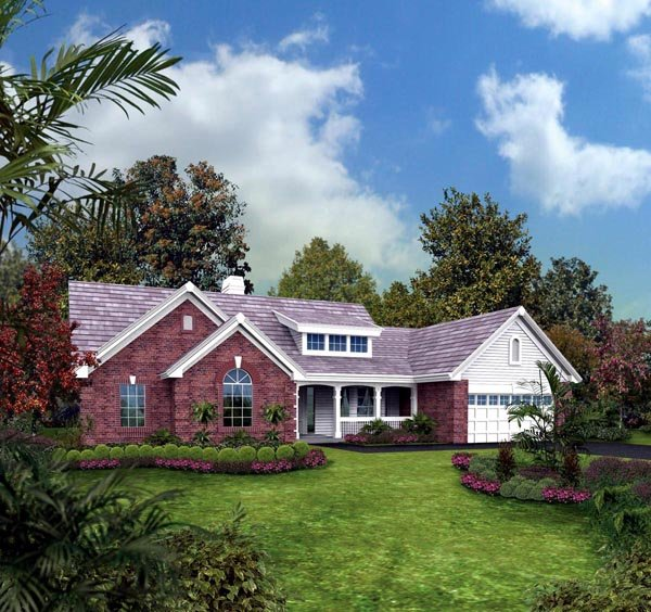 Bungalow, Country, Ranch, Traditional House Plan 87889 with 4 Beds, 3 Baths, 2 Car Garage Elevation