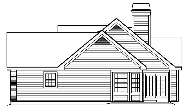 Bungalow, Country, Ranch, Traditional House Plan 87889 with 4 Beds, 3 Baths, 2 Car Garage Picture 2