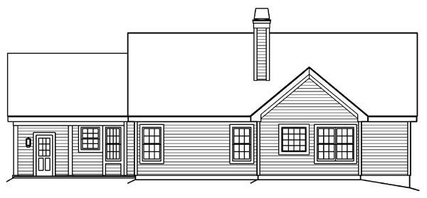 Bungalow Country Ranch Traditional House Plan 87889 Rear Elevation