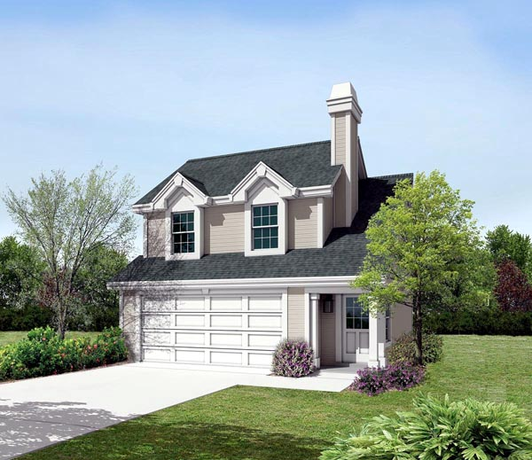 Cabin Cottage Country Ranch Traditional Garage Plan 87891 Elevation