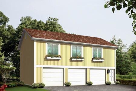 House Plan 87897 Elevation