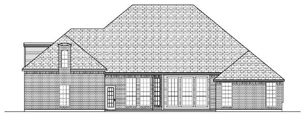 European House Plan 87902 Rear Elevation