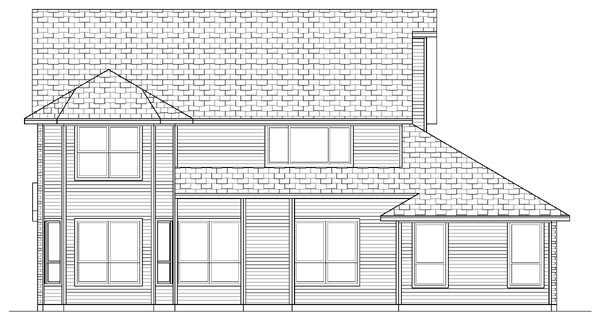 Country Farmhouse House Plan 87903 Rear Elevation