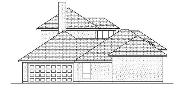 Mediterranean House Plan 87905 Rear Elevation