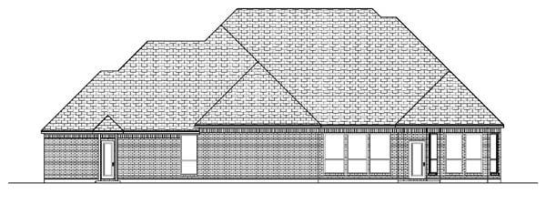 European House Plan 87924 Rear Elevation
