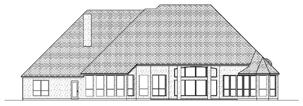 European House Plan 87933 Rear Elevation