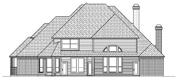 European House Plan 87934 Rear Elevation