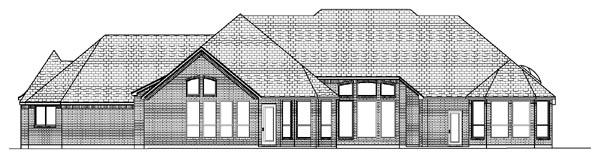 European House Plan 87935 Rear Elevation