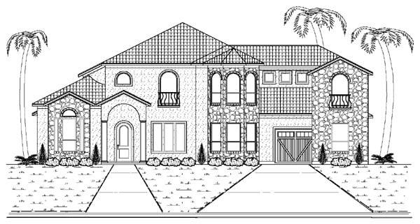 Mediterranean House Plan 87936 Elevation
