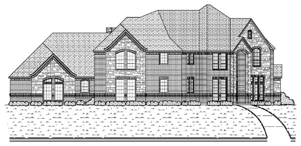 European House Plan 87938 Elevation
