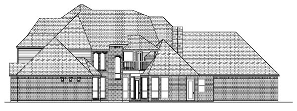 European House Plan 87938 Rear Elevation