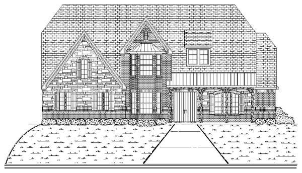 European House Plan 87940 Elevation
