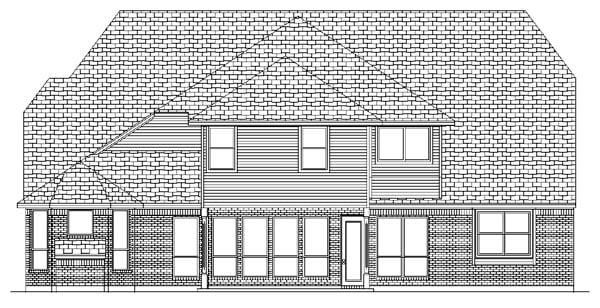 European House Plan 87940 Rear Elevation