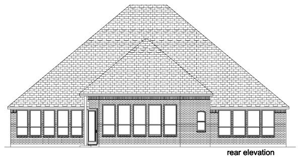 European Traditional House Plan 87991 Rear Elevation