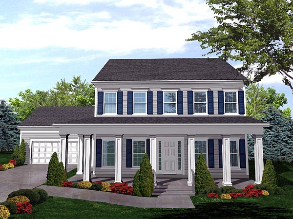 Country House Plan 88003 Elevation