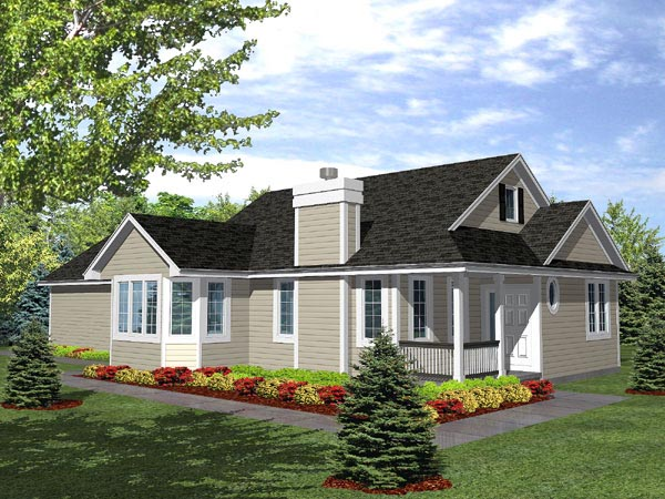 Traditional House Plan 88027 with 3 Beds, 2 Baths, 2 Car Garage Elevation