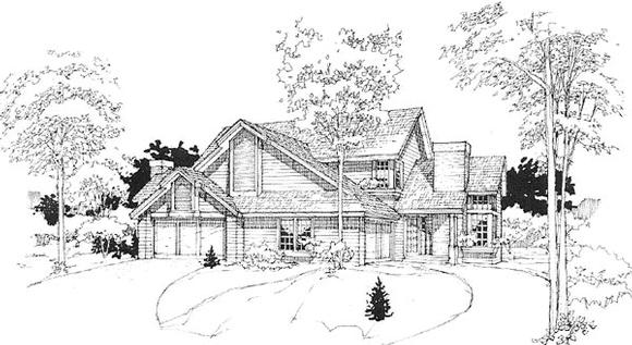 Traditional House Plan 88153 with 2 Beds, 2.5 Baths, 2 Car Garage Elevation
