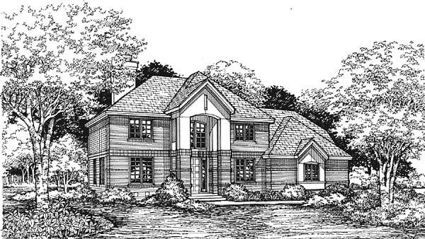European Traditional House Plan 88197 Elevation