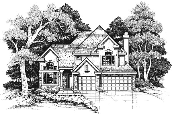 European House Plan 88203 Elevation