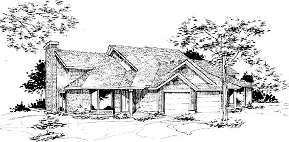 Traditional Multi-Family Plan 88401 Elevation