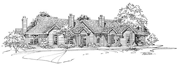 Traditional Multi-Family Plan 88405 Elevation