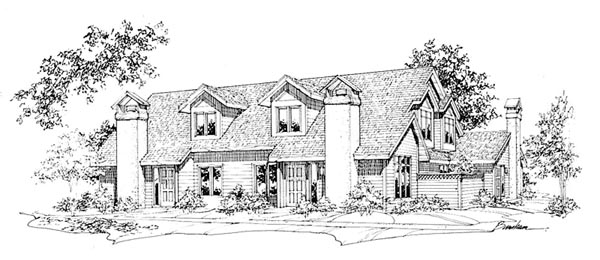Traditional Multi-Family Plan 88406 with 8 Beds, 8 Baths Elevation
