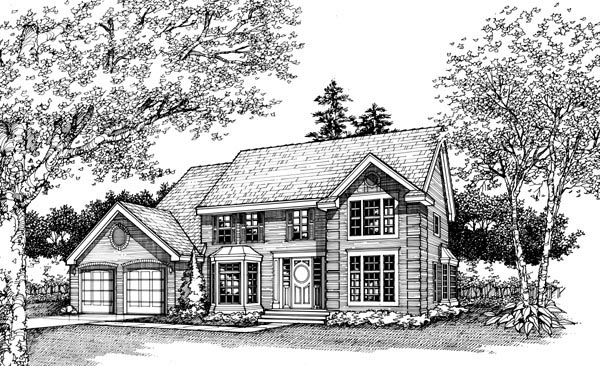 Colonial Traditional House Plan 88472 Elevation