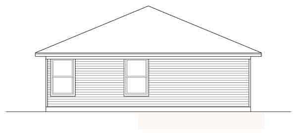 Traditional House Plan 88602 Rear Elevation