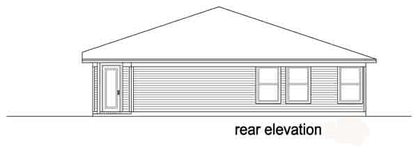 Traditional House Plan 88609 Rear Elevation
