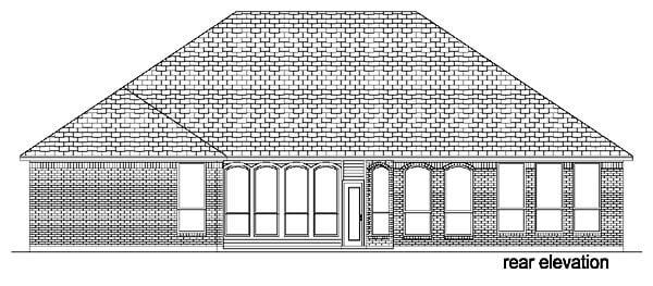 European Traditional House Plan 88625 Rear Elevation