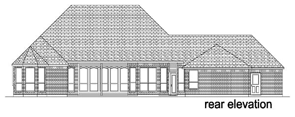 European Tudor House Plan 88627 Rear Elevation