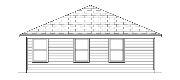 Rear Elevation of Traditional   House Plan 88633
