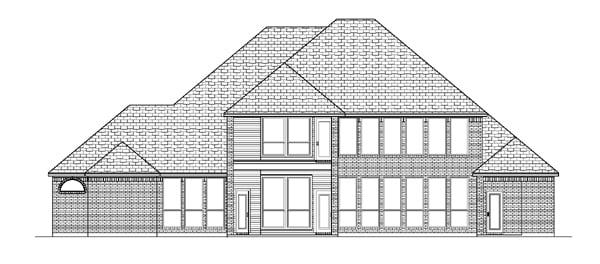 European House Plan 88640 Rear Elevation