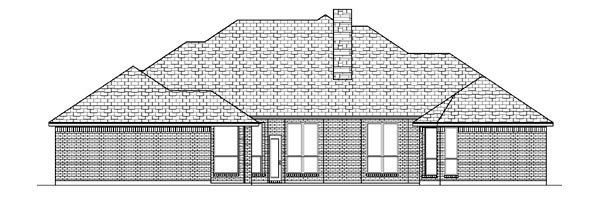 European Tudor House Plan 88658 Rear Elevation