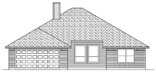 Traditional House Plan 88668 Rear Elevation