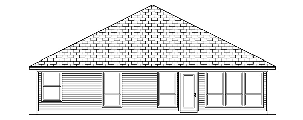 Traditional House Plan 88670 Rear Elevation