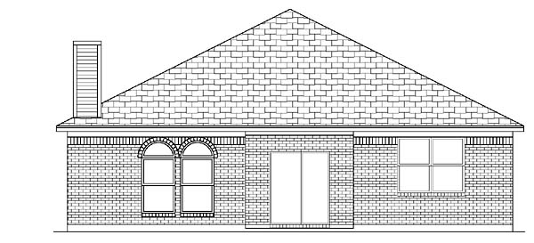 Traditional House Plan 88671 Rear Elevation