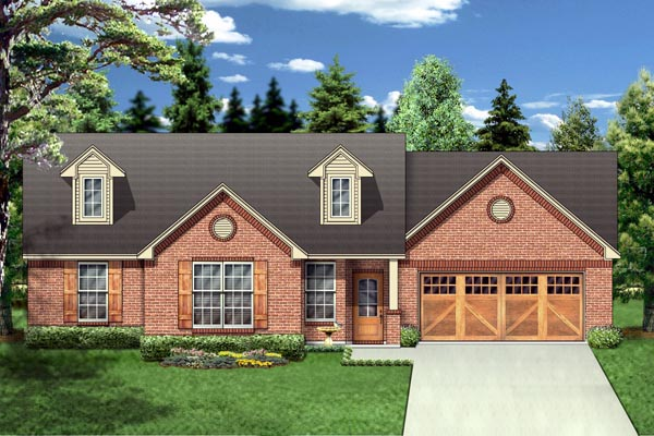 Country House Plan 88672 Elevation